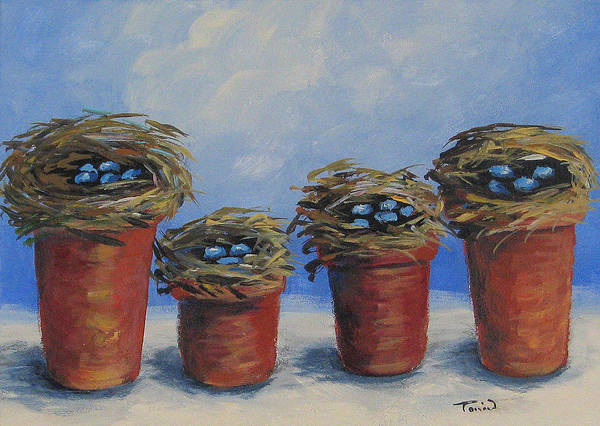 Wall Art - Painting - The Nest Garden by Torrie Smiley