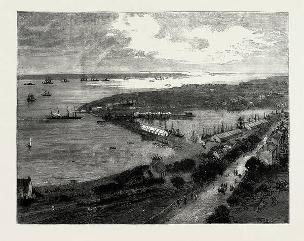 New South Wales Drawing - The New Docks At Milford Haven, South Wales by Litz Collection