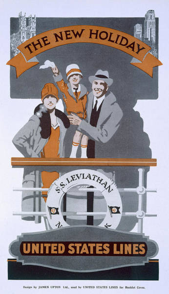 1920s Drawing - The New Holiday, Vintage Travel Poster by American School