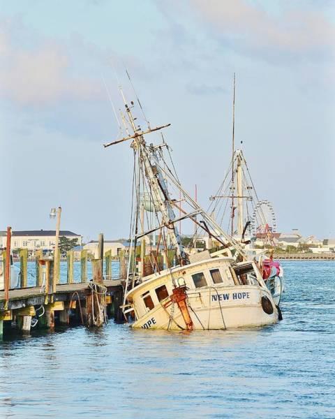 Photograph - The New Hope Sunken Ship - Ocean City Maryland by Kim Bemis