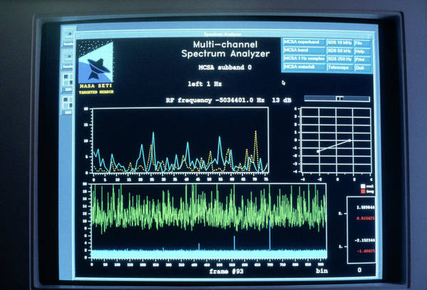 Extraterrestrial Life Photograph - The New Multichannel Spectrum Analyser Display by Seti Institute/science Photo Library