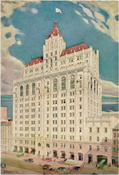 1924 Drawing - The New Offices Of The  'new York by Mary Evans Picture Library