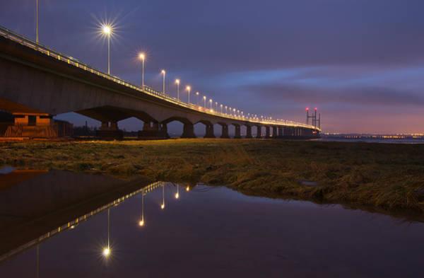 Photograph - The New Severn Bridge by Pete Hemington