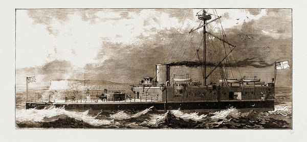 Steel Drawing - The New Steel Armour-plated Turret-ship by Litz Collection