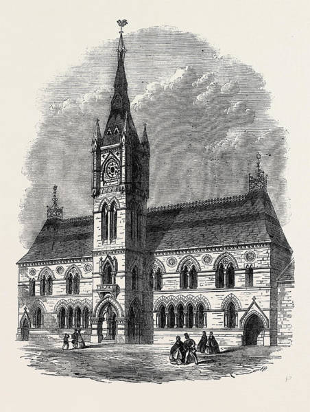 Dumbarton Wall Art - Drawing - The New Townhall Dumbarton Uk 1866 by English School