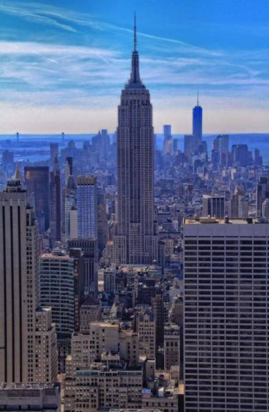 Photograph - The New York City Skyline by Dan Sproul