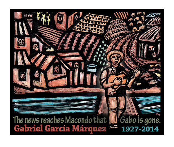 Hundred Mixed Media - The News Reaches Macondo by Ricardo Levins Morales