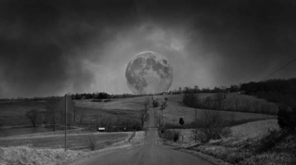 Mystic Digital Art - The Night Begins by Betsy Knapp