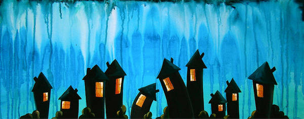 Wall Art - Painting - The Night Owls by Cindy Thornton