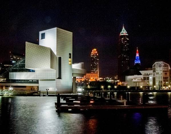 Photograph - The Night Rocks In Cleveland by Richard Kopchock