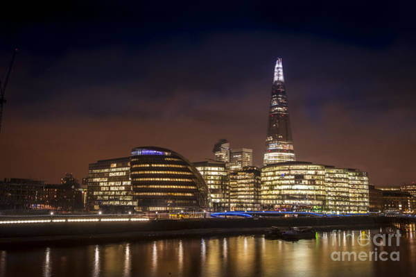 River Thames Digital Art - The Night Shard by Donald Davis