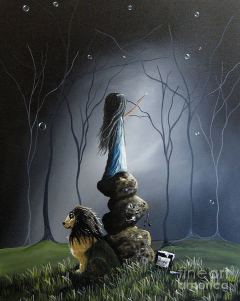 Wall Art - Painting - The Night Watchman By Shawna Erback by Erback Art