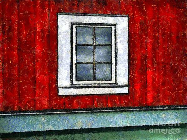 Painting - The Night Window by RC DeWinter