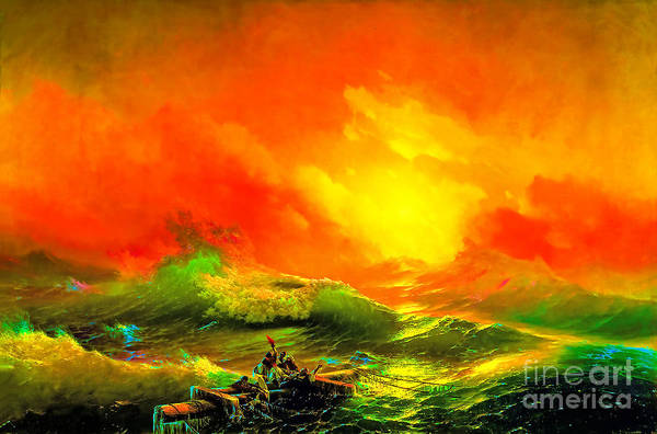 Wall Art - Painting - The Ninth Wave by Viktor Birkus