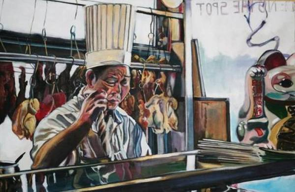 Painting - The Noodle Maker by Stephanie Come-Ryker