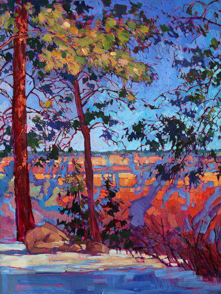 Rim Wall Art - Painting - The North Rim Hexaptych - Panel 2 by Erin Hanson