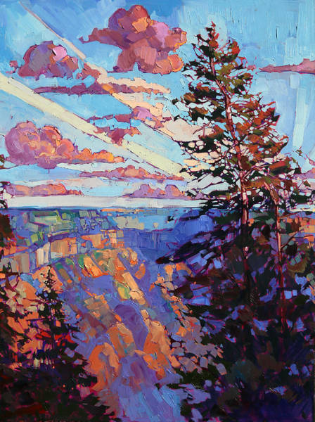 Rim Wall Art - Painting - The North Rim Hexaptych - Panel 4 by Erin Hanson