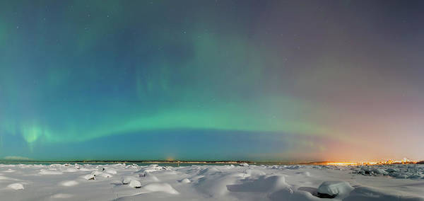 Alaska Photograph - The Northern Lights Shine Above The by Kevin Smith / Design Pics