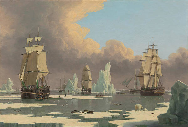 Wall Art - Painting - The Northern Whale Fishery by John of Hull Ward