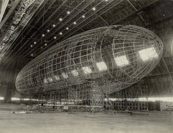 Wall Art - Photograph - The Nose Of Uss Akron Being Attached by Stocktrek Images