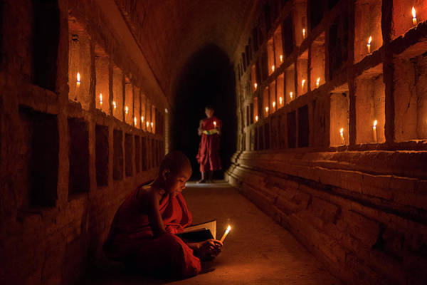Myanmar Wall Art - Photograph - The Novices by Amnon Eichelberg