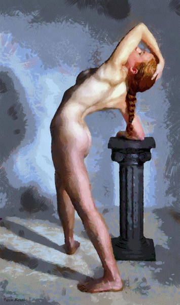 Painting - The Nude And The Pedestal by Tyler Robbins