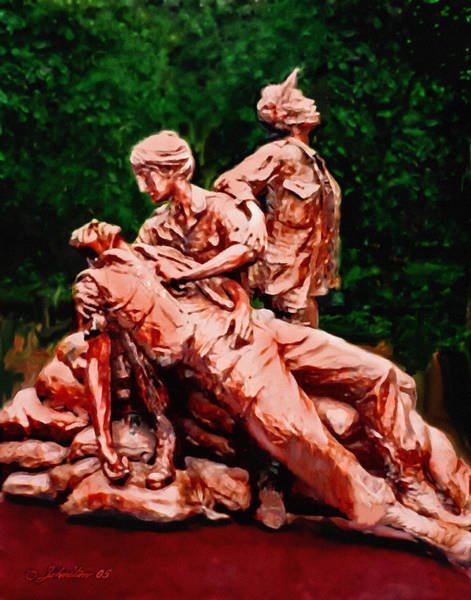 Painting - The Nurses Memorial Dc by Bob and Nadine Johnston