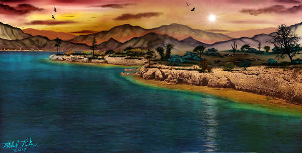 Ocean Wall Art - Painting - The Oasis by Michael Rucker