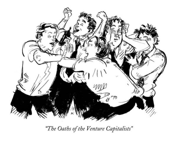 Parody Wall Art - Drawing - The Oaths Of The Venture Capitalists by William Hamilton