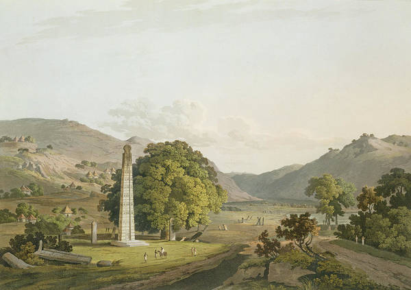 Monument Drawing - The Obelisk At Axum, Engraved By Daniel by Henry Salt