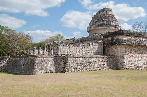 Chichen Digital Art - The Observatory At Chichen Itza by Carol Ailles