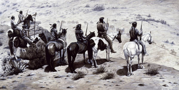 Crazy Mountains Painting - The Observers  by Gregory Perillo