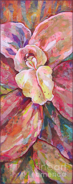 Metallic Painting - The Orchid by Shadia Derbyshire