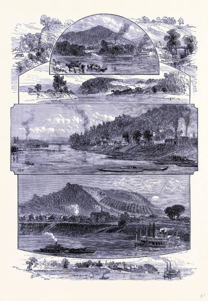 Ohio River Drawing - The Ohio River United States Of America by American School