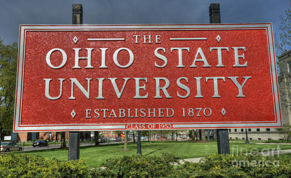 Ohio State University Photograph - The Ohio State University by David Bearden