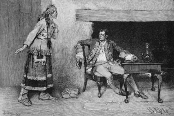 Brandywine Wall Art - Photograph - The Ojibway Maiden Disclosing Pontiacs Plot, Engraved By John Tinkey Fl.1871-1901 Illustration by Howard Pyle
