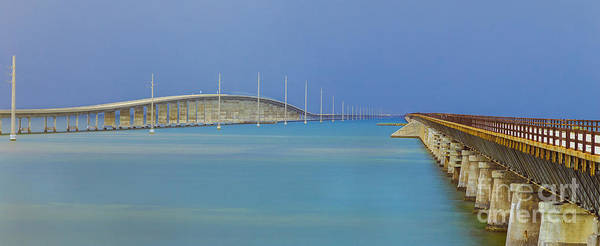 Photograph - The Old- And New 7 Mile Bridge by Hans- Juergen Leschmann