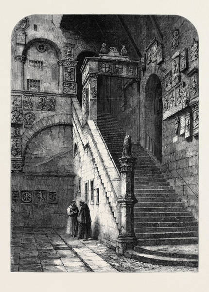 Wall Art - Drawing - The Old Bargello Florence by English School