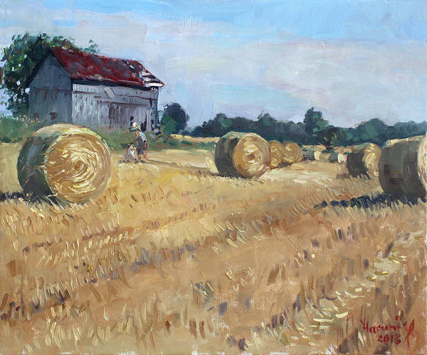 Old Barns Wall Art - Painting - The Old Barns In Georgetown On by Ylli Haruni