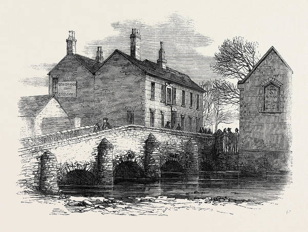 Old Style Drawing - The Old Bow Bridge Leicester by English School