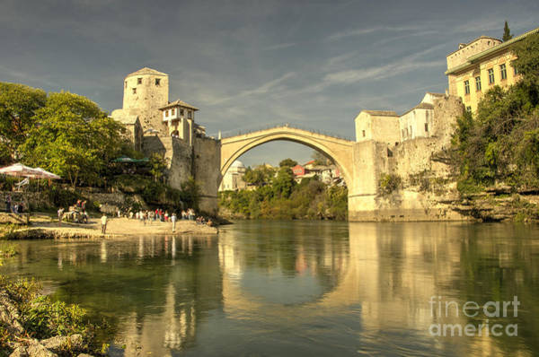 Stari Photograph - The Old Bridge At Mostar by Rob Hawkins