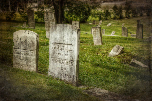 Funeral Photograph - The Old Burial Ground by Joan Carroll
