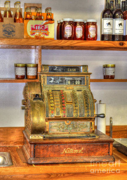 Vintage Conway Photograph - The Old Cash Register by Kathy Baccari