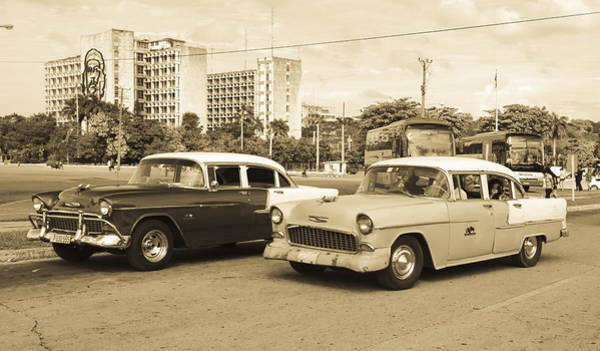 Photograph - The Old Chevy In Old Havana by Nick Mares