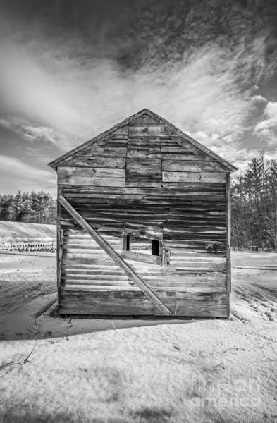 Photograph - The Old Corn Crib by Edward Fielding