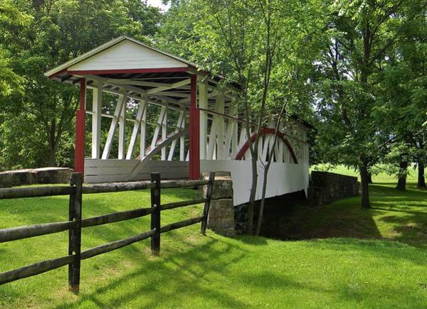 Somerset County Photograph - The Old Covered Bridge by Jean Goodwin Brooks