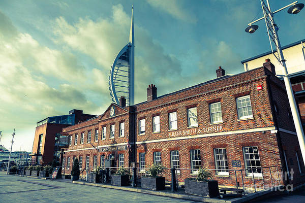 Photograph - The Old Customs House At Gunwharf Quays Portsmouth Now A Fuller' by Peter Noyce