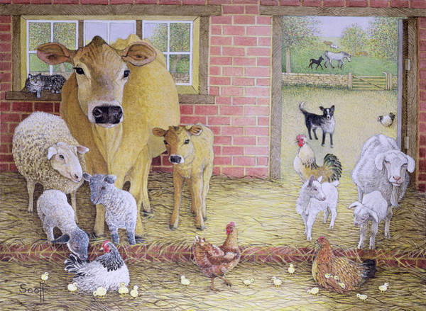 Farmyard Photograph - The Old Days Oil On Canvas by Pat Scott