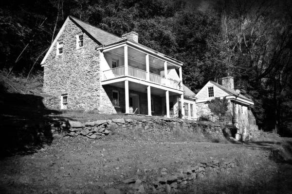Photograph - The Old Farm House Black And White by Trina  Ansel