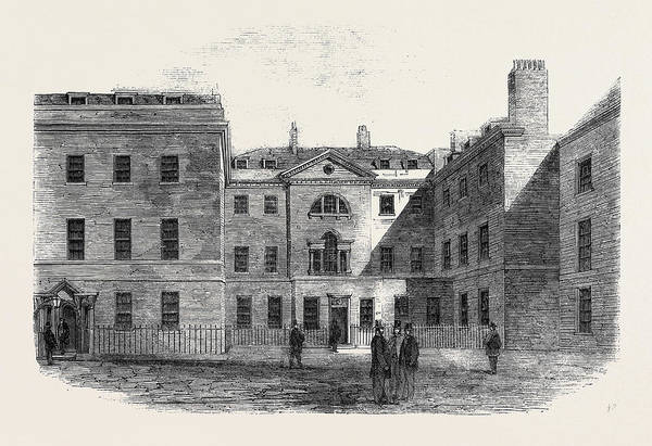 Old Style Drawing - The Old Foreign Office Downing Street by English School
